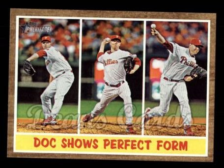 2011 Topps Heritage #312   -  Roy Halladay Doc Shows Perfect Form