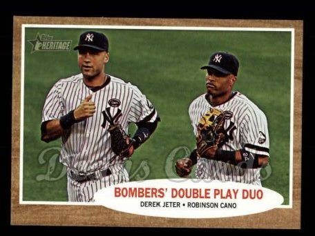 2011 Topps Heritage #37   -  Derek Jeter / Robinson Cano Bombers' Double Play Duo