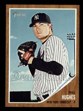 2011 Topps Heritage #376  Phil Hughes