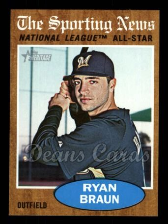 2011 Topps Heritage #394   -  Ryan Braun All-Star