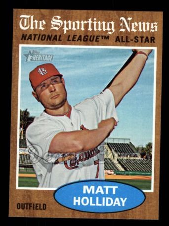2011 Topps Heritage #395   -  Matt Holliday All-Star