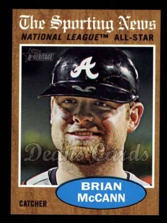 2011 Topps Heritage #397   -  Brian McCann All-Star
