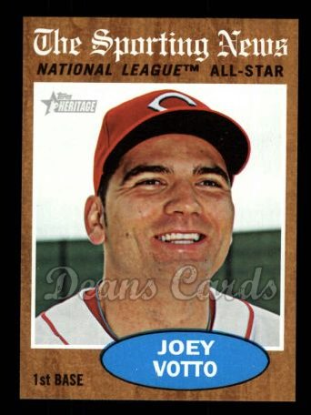 2011 Topps Heritage #398   -  Joey Votto All-Star