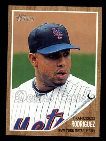 2011 Topps Heritage #421  Francisco Rodriguez