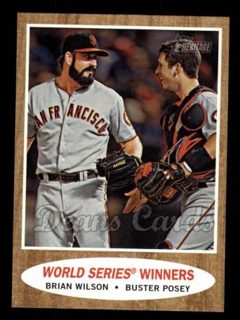 2011 Topps Heritage #423   -  Brian Wilson / Buster Posey World Series Winners