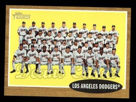 2011 Topps Heritage #43   Dodgers Team