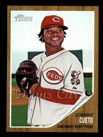 2011 Topps Heritage #450  Johnny Cueto