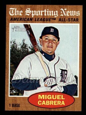 2011 Topps Heritage #466   -  Miguel Cabrera All-Star