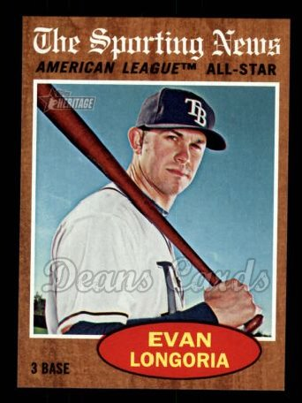 2011 Topps Heritage #468   -  Evan Longoria All-Star