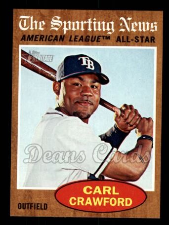 2011 Topps Heritage #470   -  Carl Crawford All-Star