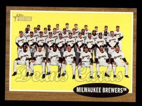 2011 Topps Heritage #61   Brewers Team