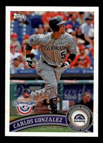 2011 Topps Opening Day #1  Carlos Gonzalez