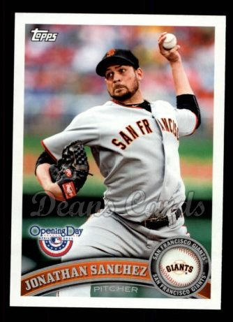 2011 Topps Opening Day #108  Jonathan Sanchez