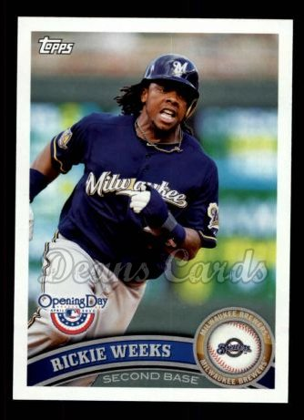 2011 Topps Opening Day #122  Rickie Weeks