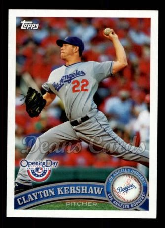 2011 Topps Opening Day #124  Clayton Kershaw