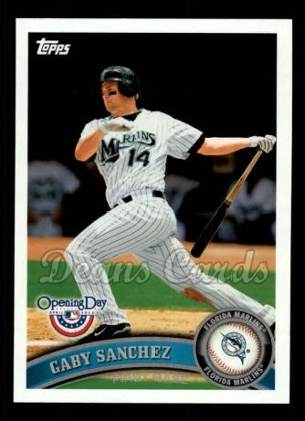 2011 Topps Opening Day #136  Gaby Sanchez