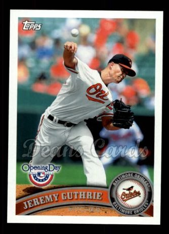 2011 Topps Opening Day #143  Jeremy Guthrie