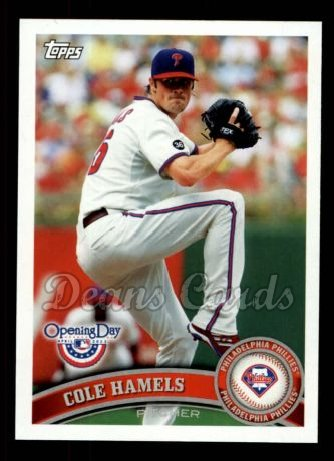 2011 Topps Opening Day #155  Cole Hamels
