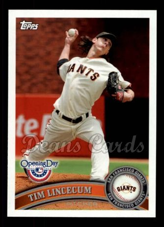 2011 Topps Opening Day #168  Tim Lincecum