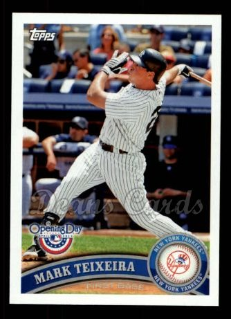 2011 Topps Opening Day #215  Mark Teixeira