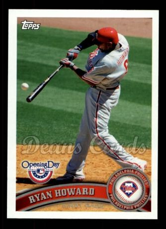 2011 Topps Opening Day #218  Ryan Howard