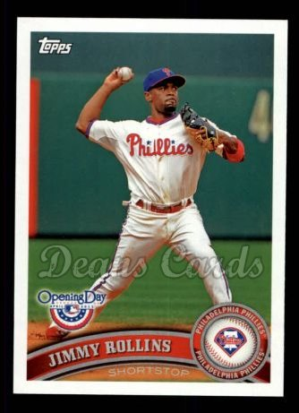 2011 Topps Opening Day #94  Jimmy Rollins