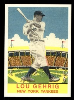 2011 Topps CMG Reprint #21 CMGR  -  Lou Gehrig 1933 DeLong
