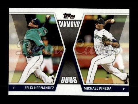 2011 Topps Update Diamond Duos #1 DDU  -  Felix Hernanez / Michael Pineda Diamond Duos
