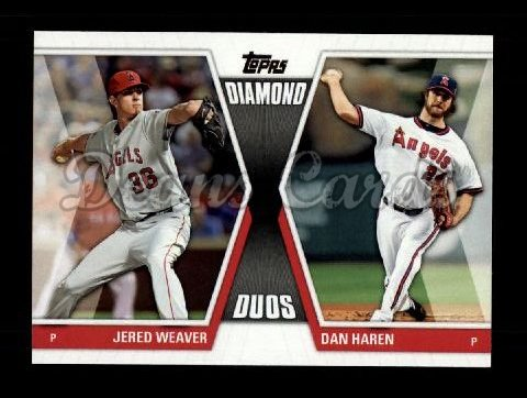 2011 Topps Update Diamond Duos #3 DDU  -  Jered Weaver / Dan Haren Diamond Duos