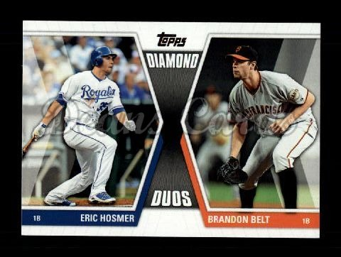 2011 Topps Update Diamond Duos #5 DDU  -  Eric Hosmer / Brandon Belt Diamond Duos
