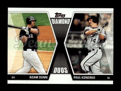 2011 Topps Update Diamond Duos #11 DDU  -  Adam Dunn / Paul Konerko Diamond Duos