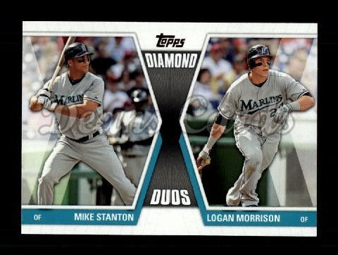 2011 Topps Update Diamond Duos #13 DDU  -  Mike Stanton / Logan Morrison Diamond Duos