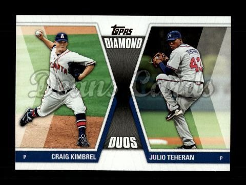 2011 Topps Update Diamond Duos #17 DDU  -  Craig Kimbrel / Julio Teheran Diamond Duos