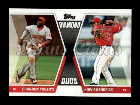 2011 Topps Diamond Duos #28 DD1  -  Chase Utley / Jimmy Rollins Diamond Duos
