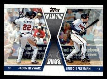 2011 Topps Diamond Duos #7 DD1  -  Jason Heyward / Freddie Freeman Diamond Duos