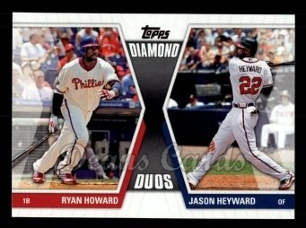 2011 Topps Diamond Duos #9 DD1  -  Ryan Howard / Jason Heyward Diamond Duos