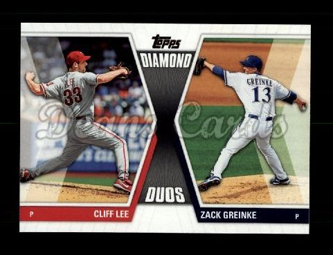 2011 Topps Diamond Duos #3 DD2  -  Cliff Lee / Zack Greinke Diamond Duos