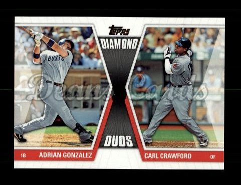 2011 Topps Diamond Duos #4 DD2  -  Adrian Gonzalez / Carl Crawford Diamond Duos