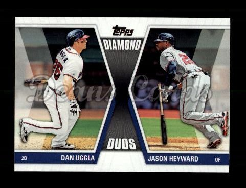 2011 Topps Diamond Duos #5 DD2  -  Dan Uggla / Jason Heyward Diamond Duos