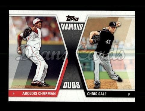 2011 Topps Diamond Duos #13 DD2  -  Aroldis Chapman / Chris Sale Diamond Duos