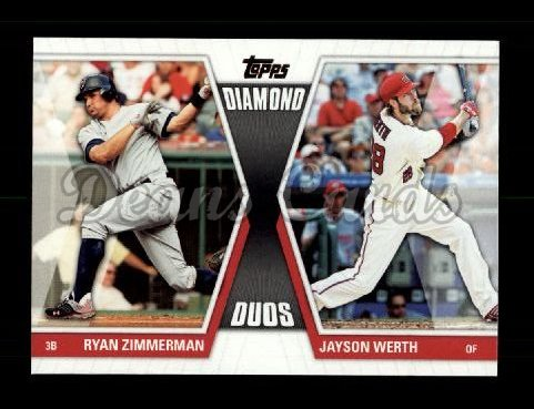 2011 Topps Diamond Duos #14 DD2  -  Ryan Zimmerman / Jayson Werth Diamond Duos