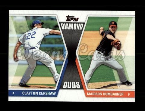 2011 Topps Diamond Duos #20 DD2  -  Clayton Kershaw / Madison Bumgarner Diamond Duos