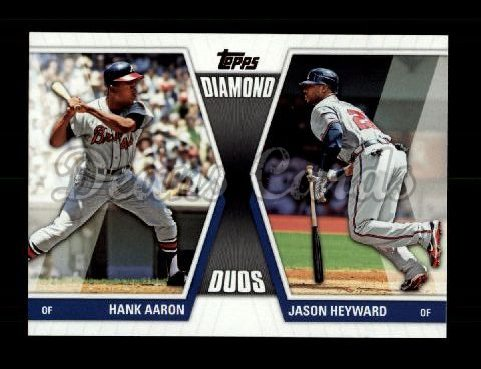 2011 Topps Diamond Duos #29 DD2  -  Hank Aaron / Jason Heyward Diamond Duos