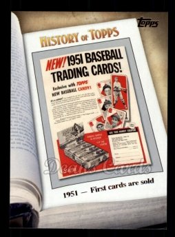 2011 Topps History of Topps #2 HOT  1951 - First Cards Are Sold