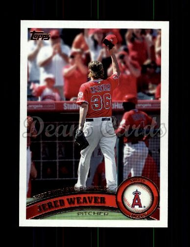 2011 Topps Update #26  Jered Weaver