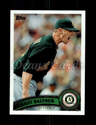 2011 Topps Update #135  Grant Balfour