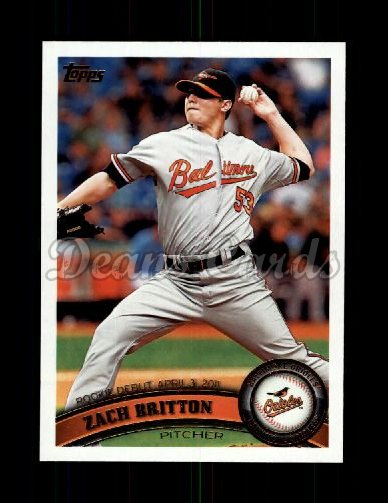 2011 Topps Update #228  Zach Britton