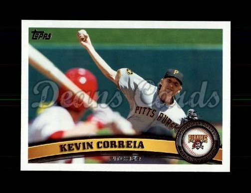 2011 Topps Update #245  Kevin Correia