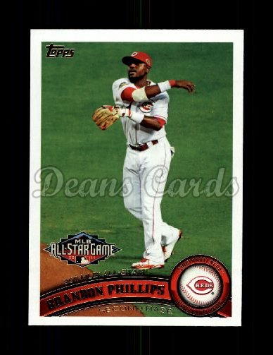 2011 Topps Update #306  Brandon Phillips