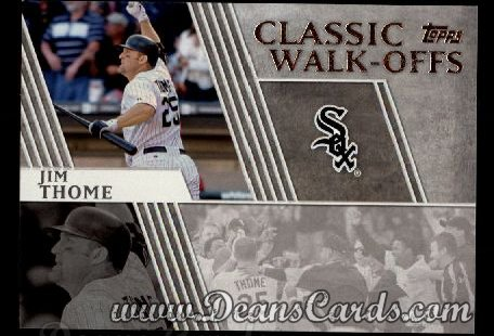 2012 Topps Classic Walk-Offs Inserts #10 CW  -  Jim Thome 9/16/2007